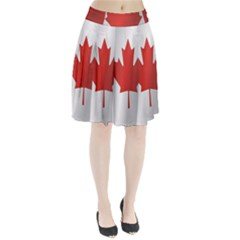 Flag Of Canada Pleated Skirt