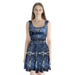 Mcesherinspiredceiling Split Back Mini Dress