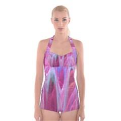 Prettyinpink Boyleg Halter Swimsuit