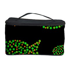 Green fishes pattern Cosmetic Storage Case
