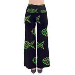 Green Fishes Pattern Pants