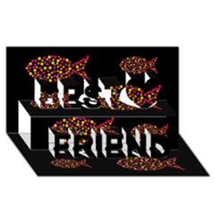 Orange fishes pattern Best Friends 3D Greeting Card (8x4)