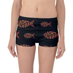 Orange fishes pattern Reversible Boyleg Bikini Bottoms