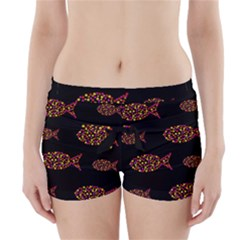 Orange fishes pattern Boyleg Bikini Wrap Bottoms