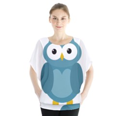 Cute Blue Owl Blouse
