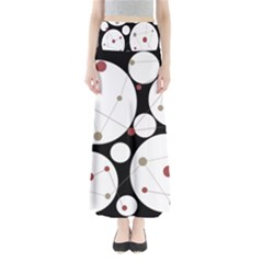 Decorative Circles Maxi Skirts