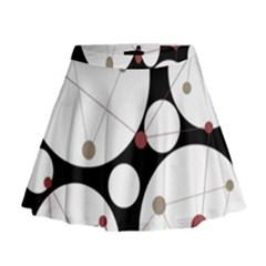 Decorative circles Mini Flare Skirt