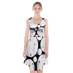 Decorative circles Racerback Midi Dress