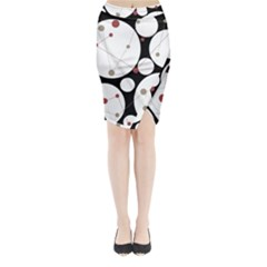Decorative circles Midi Wrap Pencil Skirt