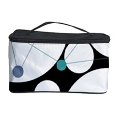 Decorative circles - blue Cosmetic Storage Case