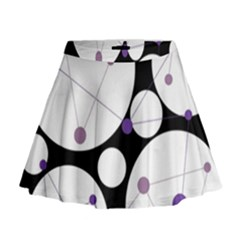 Decorative circles - purple Mini Flare Skirt