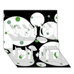 Decorative circles - green You Did It 3D Greeting Card (7x5)