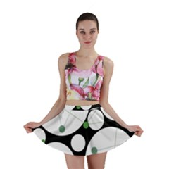 Decorative circles - green Mini Skirt