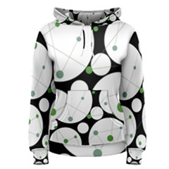 Decorative circles - green Women s Pullover Hoodie