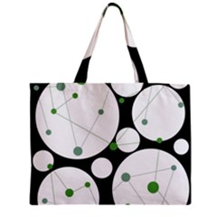 Decorative circles - green Zipper Mini Tote Bag