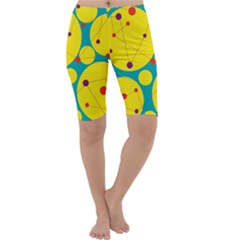 Yellow and green decorative circles Cropped Leggings