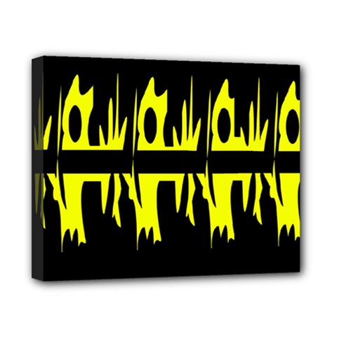 Yellow abstract pattern Canvas 10  x 8