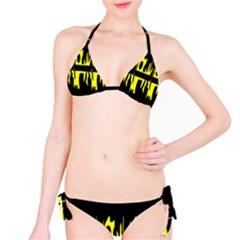 Yellow abstract pattern Bikini Set