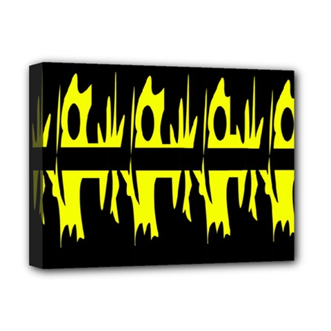 Yellow abstract pattern Deluxe Canvas 16  x 12