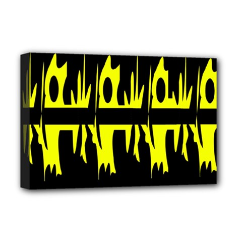 Yellow abstract pattern Deluxe Canvas 18  x 12