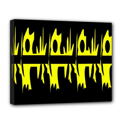 Yellow abstract pattern Deluxe Canvas 20  x 16