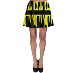 Yellow abstract pattern Skater Skirt