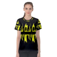 Yellow abstract pattern Women s Sport Mesh Tee