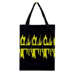 Yellow abstract pattern Classic Tote Bag