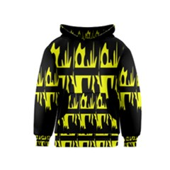 Yellow abstract pattern Kids  Pullover Hoodie