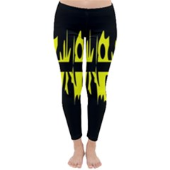 Yellow abstract pattern Winter Leggings