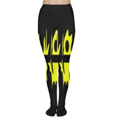 Yellow abstract pattern Women s Tights