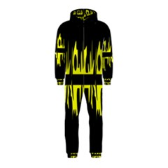 Yellow abstract pattern Hooded Jumpsuit (Kids)