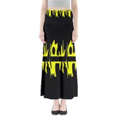 Yellow abstract pattern Maxi Skirts