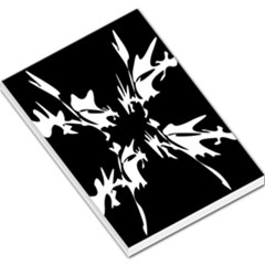 Black and white pattern Large Memo Pads