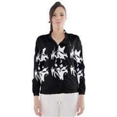 Black and white pattern Wind Breaker (Women)