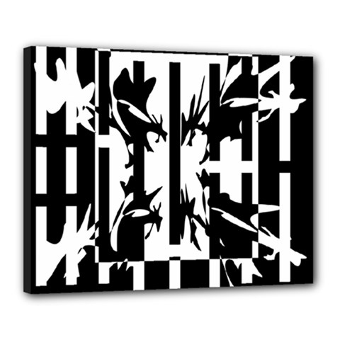 Black and white abstraction Canvas 20  x 16