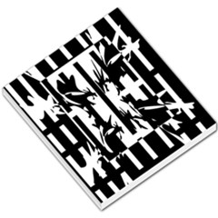Black and white abstraction Small Memo Pads