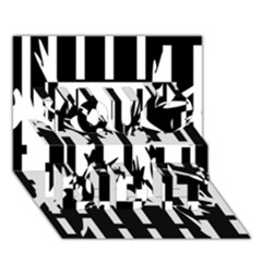 Black and white abstraction You Did It 3D Greeting Card (7x5)