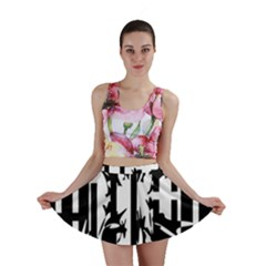 Black and white abstraction Mini Skirt