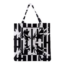 Black and white abstraction Grocery Tote Bag
