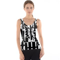 Black and white abstraction Tank Top
