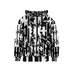 Black and white abstraction Kids  Zipper Hoodie