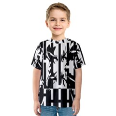 Black and white abstraction Kid s Sport Mesh Tee
