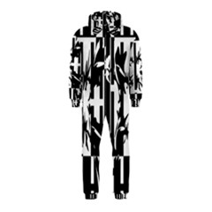 Black and white abstraction Hooded Jumpsuit (Kids)