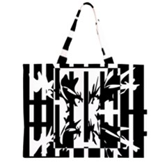 Black and white abstraction Large Tote Bag