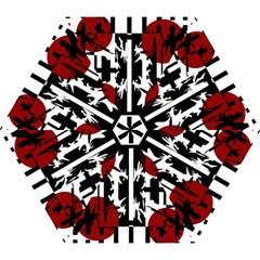 Red, black and white elegant design Mini Folding Umbrellas