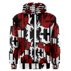 Red, black and white elegant design Men s Pullover Hoodie