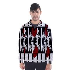 Red, black and white elegant design Wind Breaker (Men)