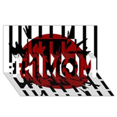 Red, black and white decorative design #1 MOM 3D Greeting Cards (8x4)