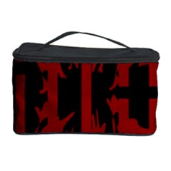 Red, black and white decorative design Cosmetic Storage Case